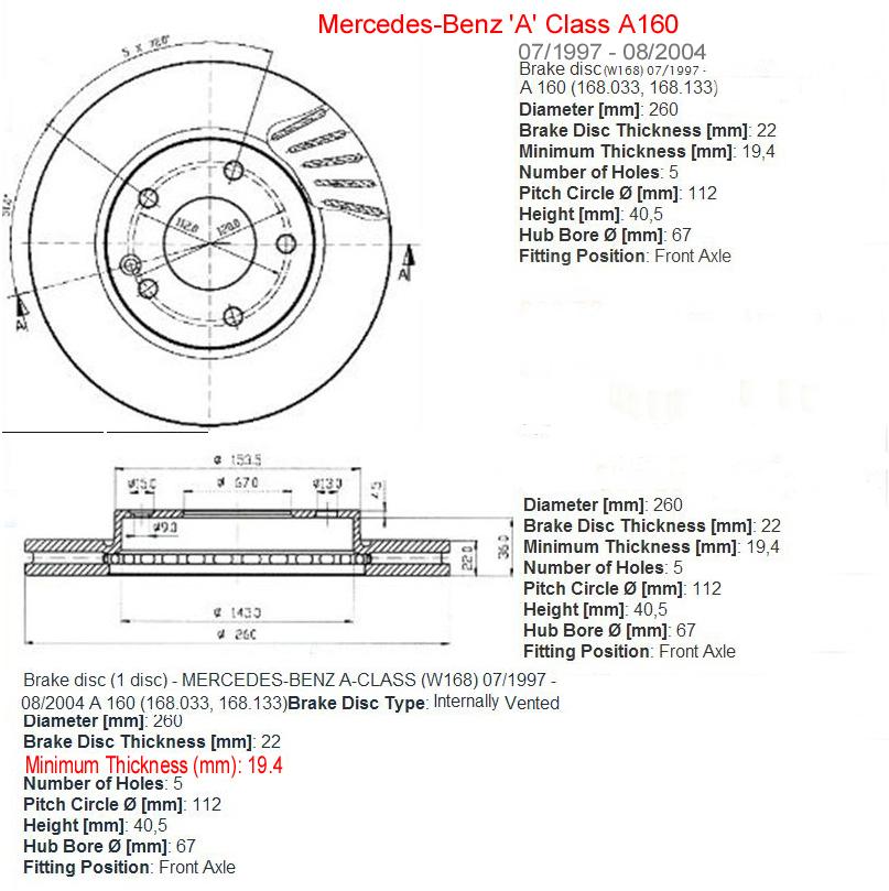 Bert Rowe S A Class Info Hydraulic Brakes Front Disc