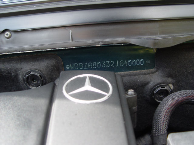 Bert rowe 39 s a class info mercedes benz aclass w169 diy for Vin decoder mercedes benz