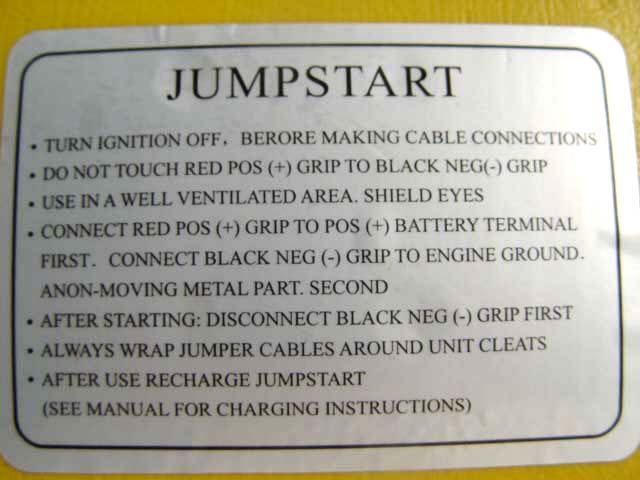 Bert Rowes A Class Info Elitech Auto Emergency Jump Start Unit
