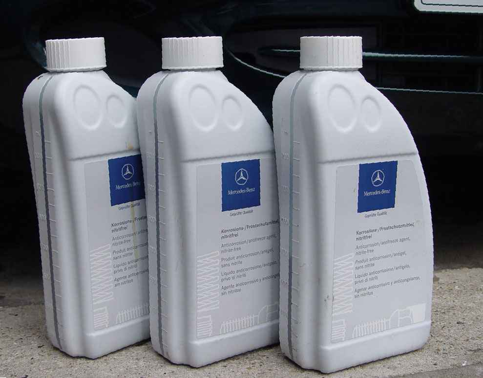 mercedes benz anticorrosion antifreeze