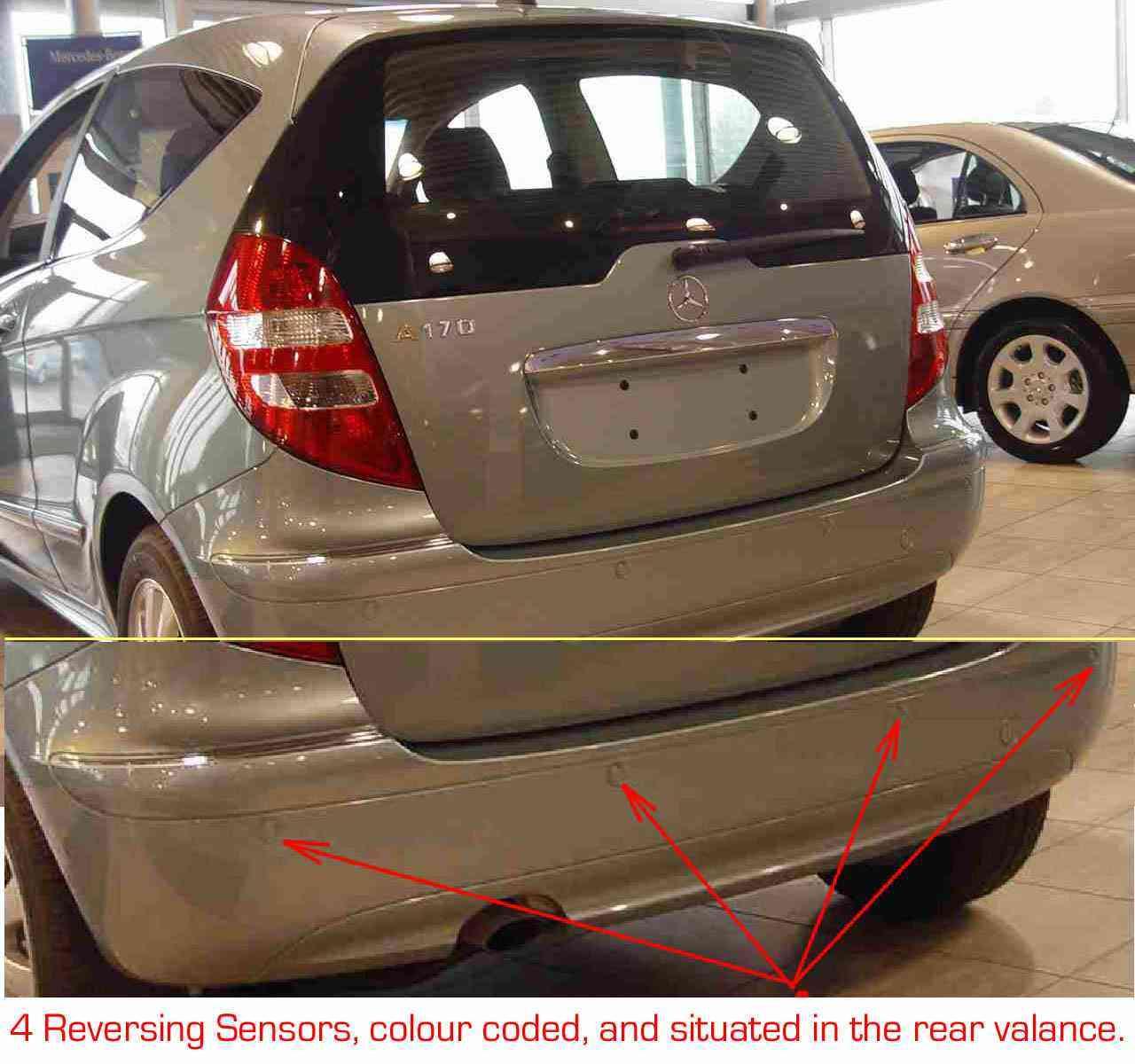 Bert rowe 39 s mercedes benz 39 a 39 class information for Mercedes benz parking sensors