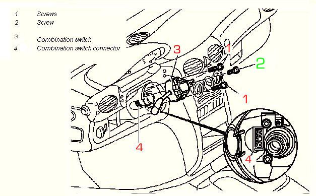 Bert Rowe's-mercedes-Benz 'A'-class info  Replacing Ignition contact