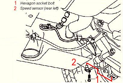 Bert rowe 39 s mercedes benz 39 a 39 class information engine for Mercedes benz speed sensor location