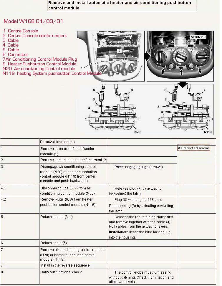 Bert Rowe's-mercedes-Benz 'A'-class info  Heater Blower/Fan Units
