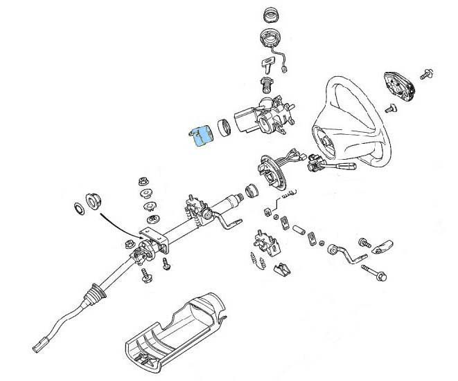 steering assembly A class bert rowe's mercedes benz 'a' class info replacing ignition Steering Column Wiring Harness Non-Automotive at gsmx.co
