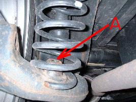 Car coil spring broken