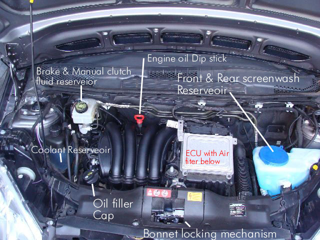 Bert Rowe\'s A classinfo, W169 familurisation, engine bay , Boot area